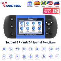 VDIAGTOOL VT600 OBD2, herramienta de escáner automotriz, motor ABS SRS EPB, servicio de reinicio de aceite, inyector de codificación OBDII, diagnóstico de coche