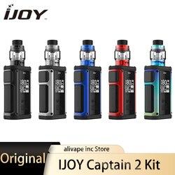 IJOY capitán Kit con V Sub-Ohm tanque 5ML X3 bobinas Dual 18650 baterías 180W TC caja Mod Kit Univ pro Chipset E cigarrillos Kit