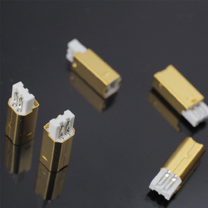 Image 4 - MPS HD 019 HiFi USB 2.0 אודיו מחבר תקעים טהור נחושת אודיו שקע מחבר 24K 5u זהב מצופה DAC USB 2.0 מחבר סוג B