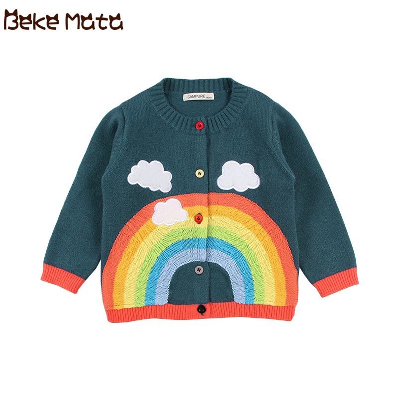 Popular Toddler Infant Girls Boys Clothes Long Sleeve Rainbow Warm Blouse Tops
