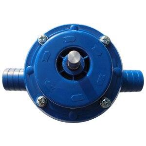 Self Priming Pump Metal Blue Hand Drill Pump Household DIY Home Practical Water Pump Garden Convenient