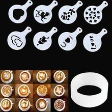 Powders-Tools Cake-Stencils Sugar-Sieve Mold Fill-Coffee Cappuccino Coffee-Printing Model