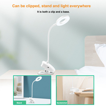 Table lamp 360 degrees Stepless Dimmable Desk Reading Three-tone Light Foldable Rotatable Touch Switch 5V USB LED Table Lamp 5 dimmable protect eyesight foldable reading led light table lamp touch control calendar alarm clock usb charging led lamp