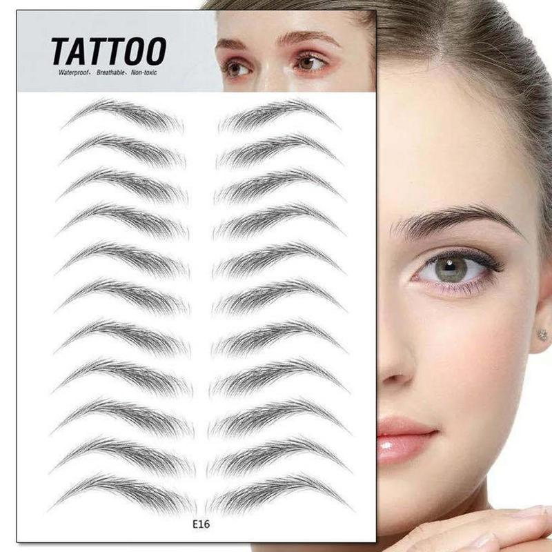 4D Hair-like Eyebrow Tattoo Sticker 4D Hair-like Authentic Eyebrows Waterproof Long Lasting Eye Brows Styling Cosmetic Tool