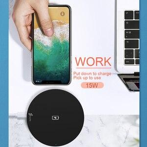 Image 5 - Swalle 15W Sạc Không Dây QI Miếng Lót với Micro USB Cable Cho Samsung Galaxy S7 S6 S8 S9 S10 Plus dành cho IPhone 8 X XS sạc nhanh