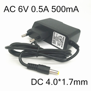 AC 6V 0.5A 500mA 4.0*1.7mm DC Power Supply Adapter Charger for OMRON I-C10 M4-I M2 M3 M5-I M7 M10 M6 M6W Blood Pressure Monitor