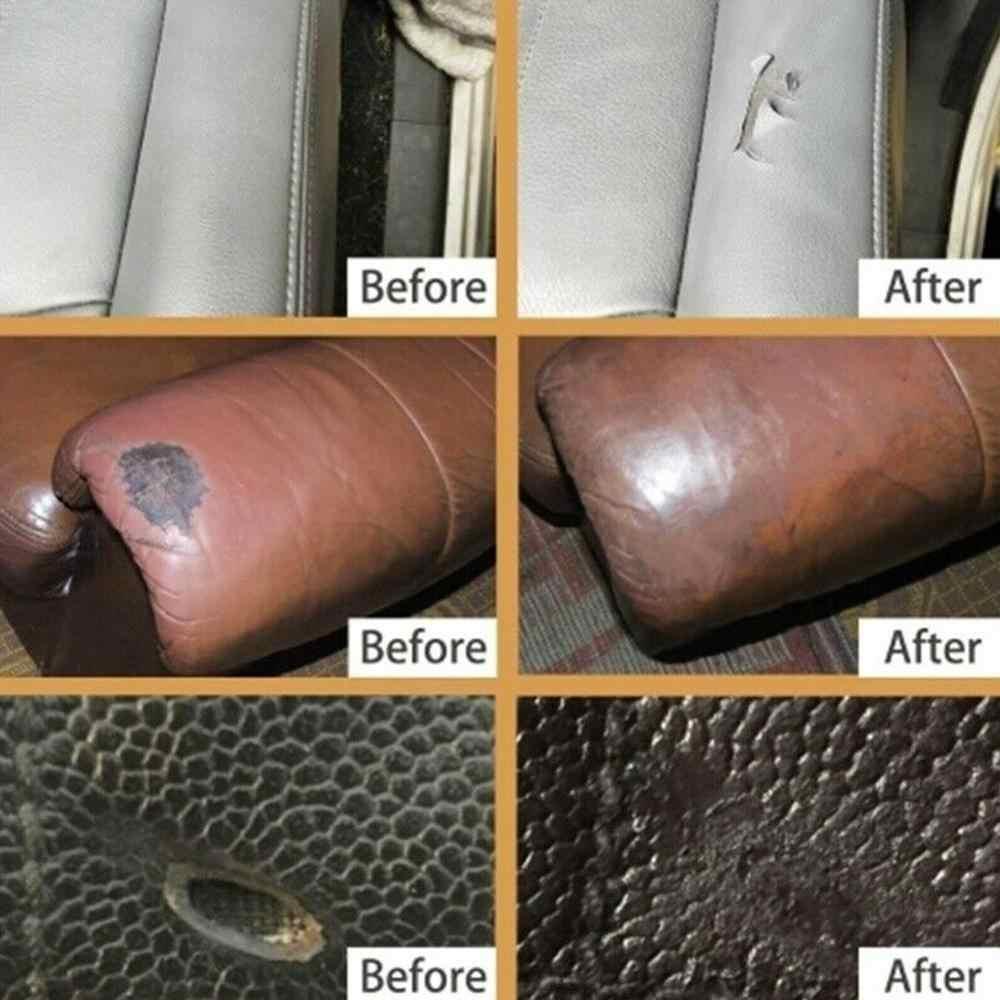 Hot Universele Lederen Reparatie Tool 20 Ml/60 Ml Autostoel Sofa Jassen Holes Scratch Scheuren Geen Warmte Vloeibare leder Vinyl Reparatie Kit
