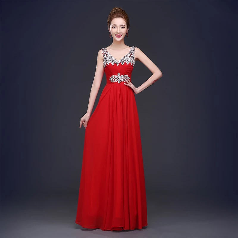 Wedding Party Dresses Elegant Formal Gowns Long Bridesmaid Dress in Bridesmaid Dresses from Weddings Events