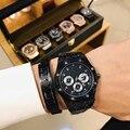 Модные брендовые мужские часы кварцевые мужские часы с резным узором роскошные часы класса ААА