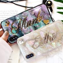 Funda blanda con nombre personalizado para Samsung Galaxy S20 Ultra S8 S9 S10 Plus Note 20 8 9 10, regalo único