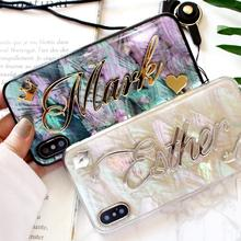Per Samsung Galaxy S20 Ultra S8 S9 S10 Più Nota 20 8 9 10 di Personalità Arcobaleno Soft Cover Regalo Unico nome personalizzato Cassa Del Telefono