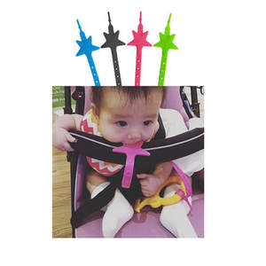 Baby Stroller Toys Teether Pacifier Chain Strap Holder Belt Saver Baby Stroller Accessories