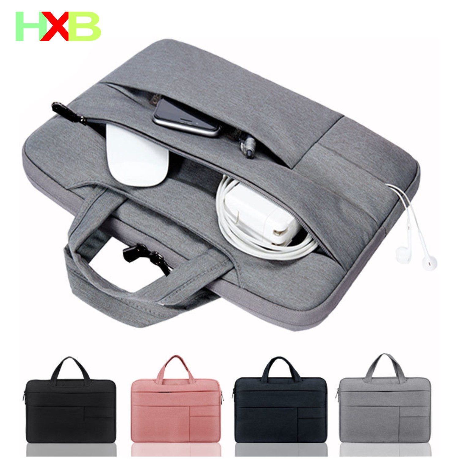 XHB Laptop Case PC air 13 Notebook Bag Waterproof Tablet Sleeve For Macbook Pro Air 11 12 13.3 14 15 Dell Asus HP Lenovo Surface