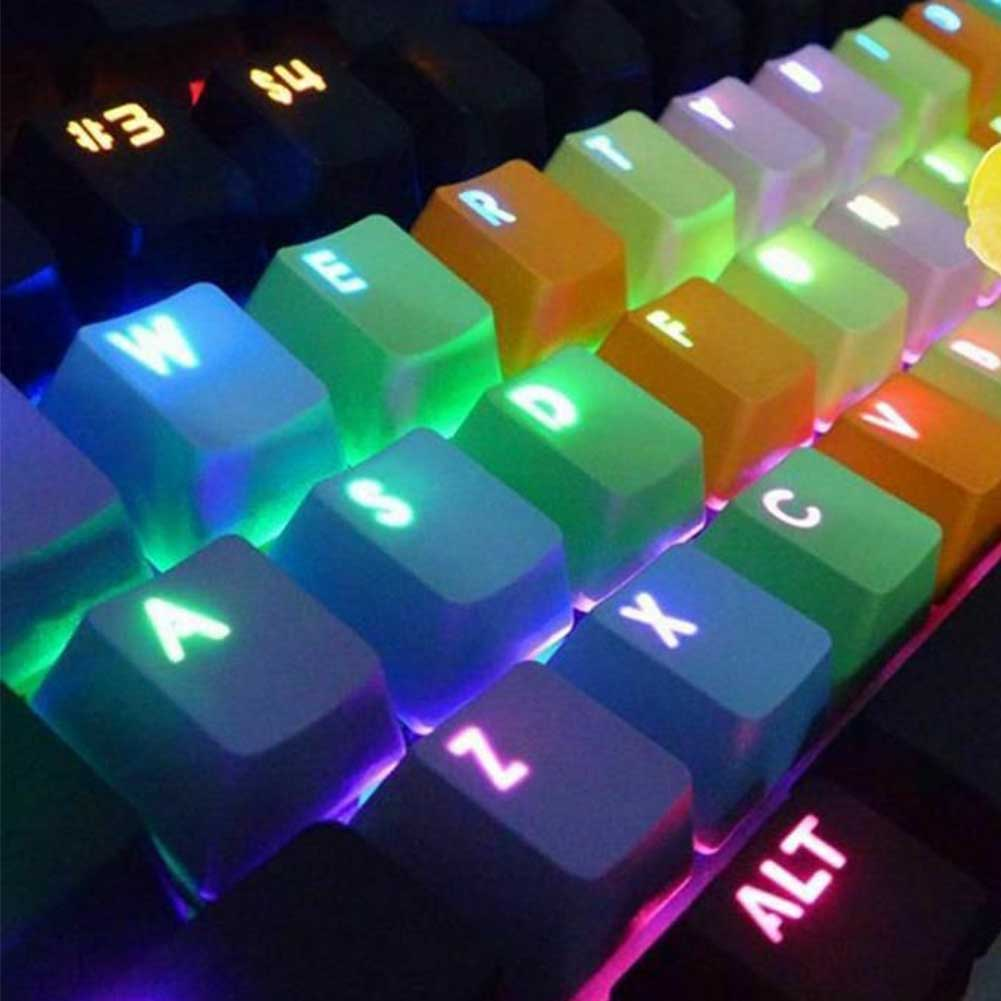 2019 New Arrival PBT 37 Key Double Shot Colorful Keycaps Gaming Replacement Backlight Keycaps For Wired USB Mechanical Keyboard