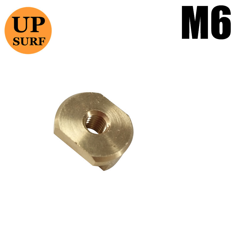 4 PCS New Hot M8 / M6 Hydrofoil Mounting Brass T-Nuts For Water Sports Surfing All Hydrofoil Tracks Surfing Outdoor Accessories