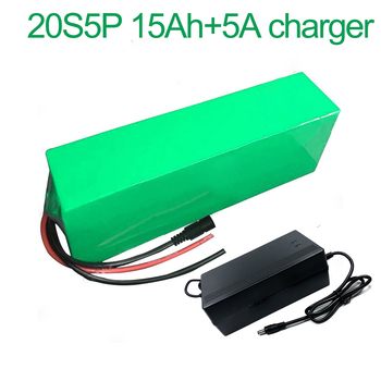 With 5A charger 72V 15Ah 20S5P 18650 Li-ion Battery electric two Three wheeled motorcycle bicycle ebike 380*100*70mm