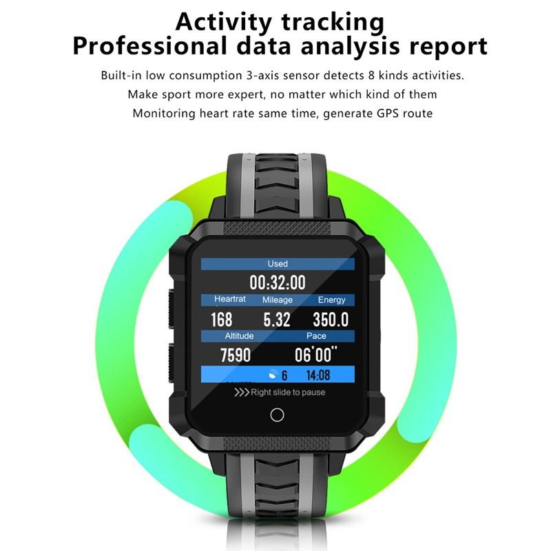 Смарт часы H7, Android 6,0 MTK 6737, 1 Гб + 8 Гб, 600 мАч, пульсометр, gps, wifi, пульсометр, пневматические Смарт часы, Bluetooth, Смарт часы - 6