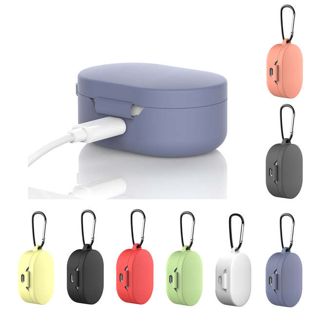 Silicone Case Protective Cover For Xiaomi Airdots TWS Bluetooth Earphone Youth Version Headset Silicone Protective Cover Case