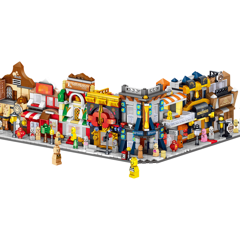 City Street View Building Blocks Compatible With Legoing Bricks Models The Toys For Children Gifts Assemble Streetscape