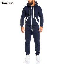 Casual Tracksuit Jumpsuit Men Long Sleeve Sweatshirt Hoodies Sweatpants Romper Men Overalls Clothing Hooded Onesie Pijama Hombre(China)