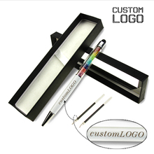 1Set Touch Screen Capacitive Ball Pens Crystal Ballpoint  Laser Custom Logo Metal Pen Student Stationery With Box
