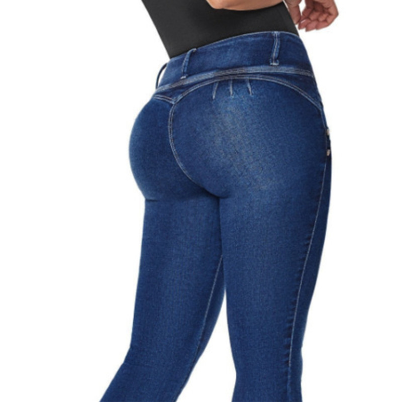 Women Casual Jeans High Waist Skinny Butt Lifting Elastic Bodycon Pencil Sexy Push Up Hip Cotton Ladies Jeans Femme Denim Pants