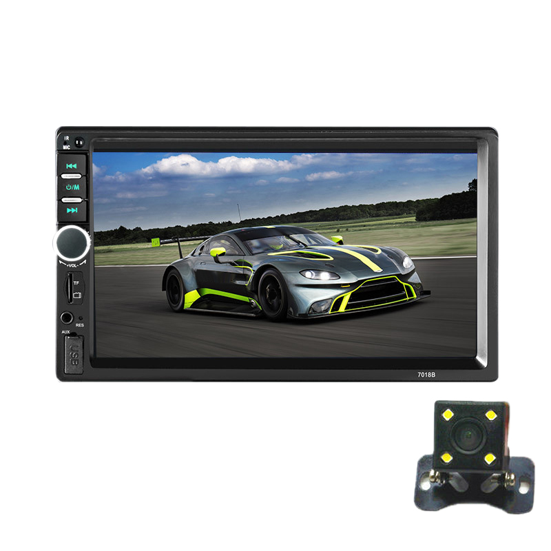 <font><b>2</b></font> <font><b>Din</b></font> Car MP5 Player Bluetooth 7 Inch LCD Press Screen Multimedia Car <font><b>Radio</b></font> Support Rear View Camera <font><b>7018B</b></font> image
