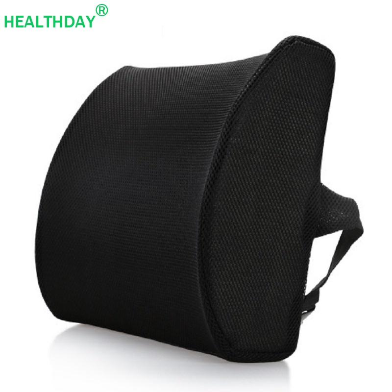 1 Pack Back Pillow For Office Chair Mesh Fabric Memory Foam