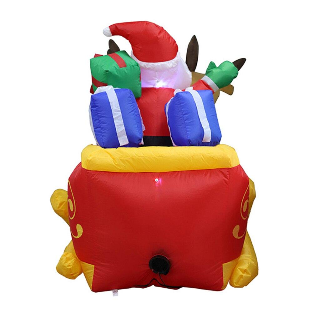 210 см гигантский надувной Санта Клаус двойной олень S светодиодный дуть забавные игрушки для Детские Рождественские подарки Хэллоуин вечер... - 2