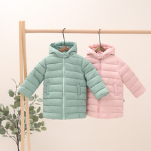 Hot Sale Kids Winter Fashion Jacket Children Plus Thick Velvet Big Virgin Long Warm Outdoor Coat for Cold 5 Colors