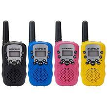 2 قطعة Baofeng BF T3 UHF462 467MHz 8 قناة المحمولة اتجاهين 10 نغمات الدعوة جهاز الإرسال والاستقبال اللاسلكي للأطفال راديو طفل لاسلكي تخاطب