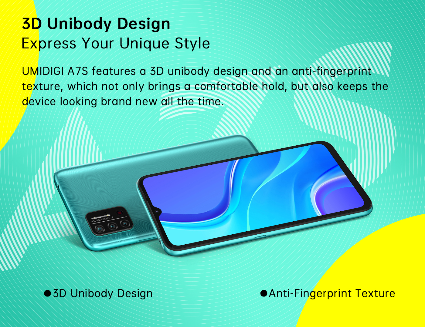 UMIDIGI A7S OS: Android 10 Go Color: Granite Grey / Sky Blue / Peacock Green…