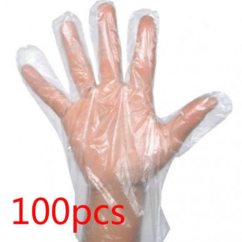 100pcs/bag One-off Gloves Restaurant BBQ Transparent Eco-friendly Gloves Kitchen Accessories Disposable Gloves Kitchenware