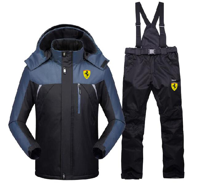 Men Winter Outdoor Coat + Pants Ski Suit Sets Jacket Snowboard Hiking Climbing Windbreak