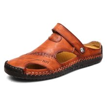 Dacomfy летние мужские сандалии; Кожаные Классические римские