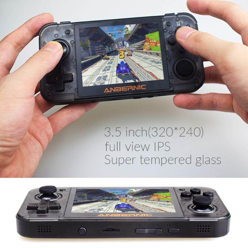 RG350 rétro Console de jeu 64bit Console de poche 3.5 pouces IPS écran double cœur