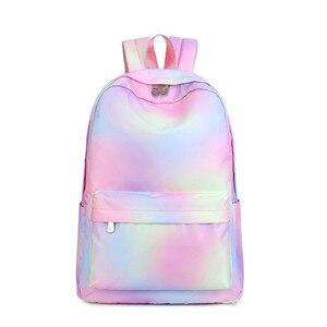 Image 1 - Женский школьный рюкзак Vento Marea, розовый дорожный рюкзак для девочек подростков, сумка для ноутбука, 2019