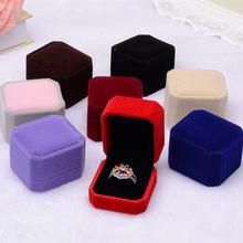 Классическая бархатная коробка для колец обручальные кольца
