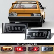 Çift LED fren kuyruk işık dur ışıkları Lada 2109 2108 + koşu dönüş sinyal ışığı lambası araba Styling aksesuarları