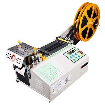 цена на Fully Automatic Computer Tape Cutting Machine Cold Cutting Machine Velcro Ribbon Cutting Machine Rope Cutting Machine Cut Round