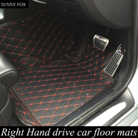 SUNNY FOX Right hand drive/RHD car car floor mats for Audi A8 L A8L 6D foot case all weather car styling rugs perfect carpet li
