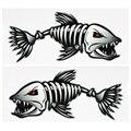 2 шт. зубы рыбы стикеры со ртом Скелет наклейки с дизайном «рыбы» каяк аксессуары рыболовная лодка каноэ каяк графика аксессуары