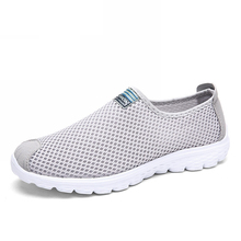 WHOHOLL Unisex Summer Breathable Mesh Men Shoes Lightweight Flats Fashion Casual Male Brand Designer Loafers