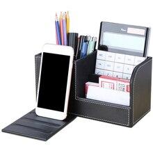 Multifunctional Desk Set Organizer Pen Holder Card Case Foldable List Systematically Storage Box Desktop Supplies