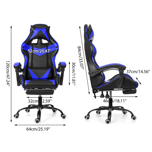 Leather Office Gaming Chair Home Internet Cafe Racing Chair WCG Gaming Ergonomic Computer Chair Swivel Lifting Lying Gamer Chair 5