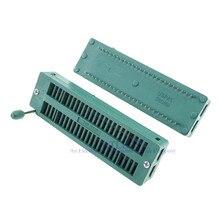 10 pces teste ic dip zif zip soquete 48 pinos passo 2.54mm universal dupla linha espaçamento 15.24mm lata placa 2x24 48 posição grade