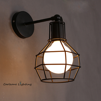 Retro Wall Lamp Vintage Industrial Iron Art Wall Light Bedside Lamp Living Room Wall Sconce LED E27 Indoor Wall Light Fixture american wall lamp industrial vintage loft style wall light for bedside wall sconce glass iron art edison e27 lighting fixtures