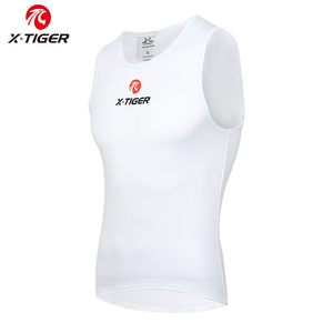 Image 2 - X TIGER Winter Cycling Base Layer Sleeveless Fleece Sports Bike Jerseys Bicycle Keep Warm Sleeveless Shirt Warm Bike Underwear