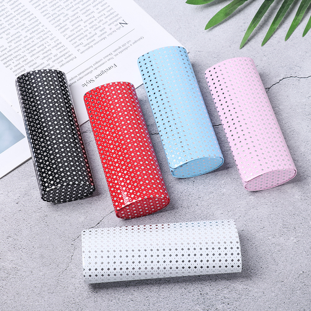 Unisex Magnetic Closure Hard Eyeglasses Case Oval Glasses Package Sunglasses Storage Box Portable Travel Glasses Accessories