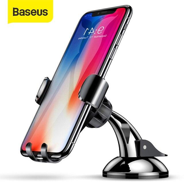 Baseus Soporte Universal para teléfono de coche Gravity, ventosa, parabrisas, para coche, iPhone 11 XS, Samsung